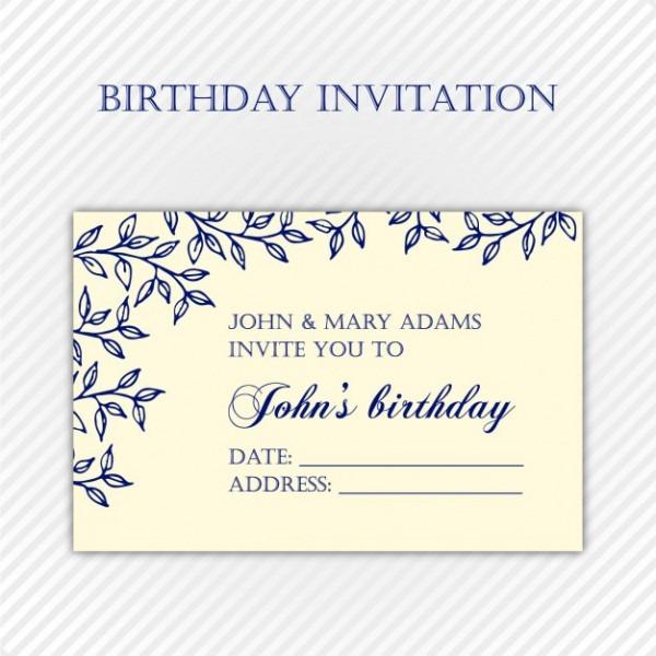 Molde Do Convite De Aniversário