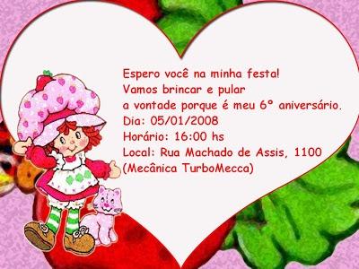 Festas Infantis  Idéias Para Escrever Nos Convites