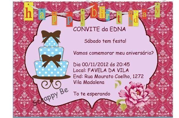 O Que Escrever No Convite De Aniversario 1 » Happy Birthday World