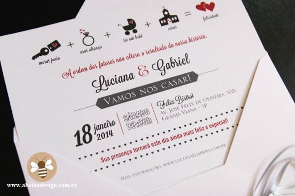 Convite Casamento Engraçado