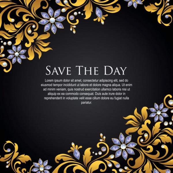 Papel De Parede Floral Roxo Dourado Do Convite