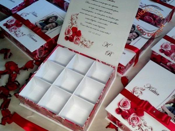 Convite Box Para Padrinhos  16x4   C  9 Divisórias Por R$29,50