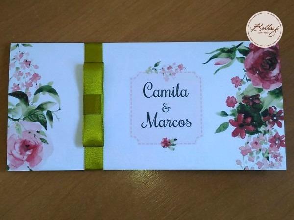 Promoção Convite Casamento Floral 70 Unid  + 150 Indiv