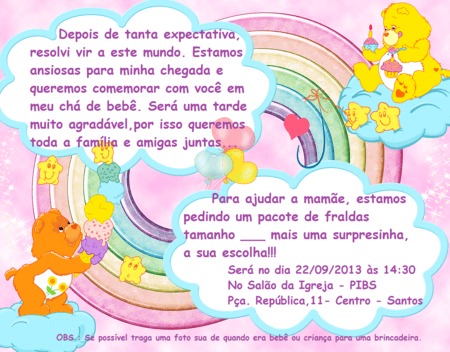 Novo Frases Para Convite De Cha De Fraldas