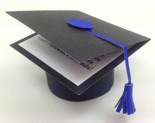 Cartão   Convite Capelo Formatura E Graduação