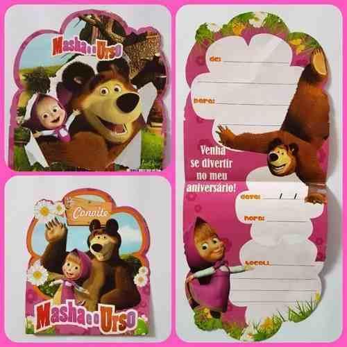 Convite Especial Masha E O Urso (20 Unidades)