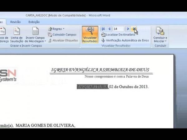 Emissão De Cartas Para Igrejas Evangélicas