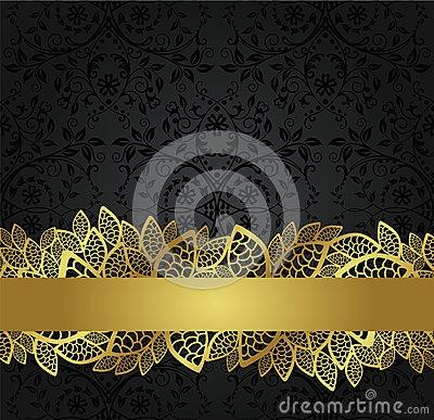Convite Preto E Dourado Um Luxo!!!