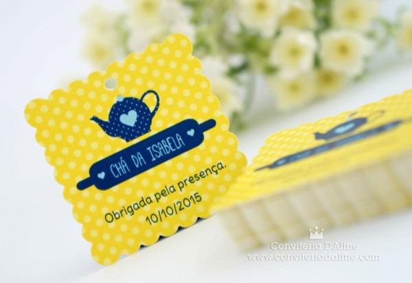 Blog Conviteria D'aline  Chá De Cozinha Personalizado Marinho +