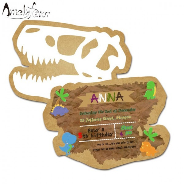 Tema Dinossauro Cartão Convites De Aniversário Fontes Da Festa De