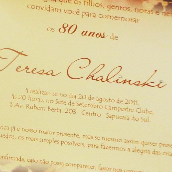 Imagemgrafia Presentes E Lembranças Personalizadas  Convites De 80