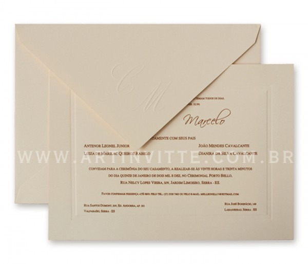 Convite De Casamento Toronto Tt 016