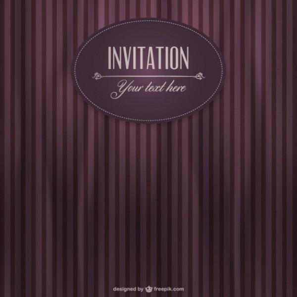 Vetor Convite Retro Papel De Parede