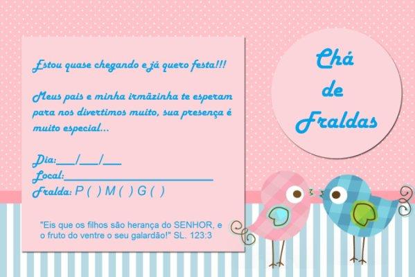 Duvidaaa Sobre Convites Pro Cha De Fraldas
