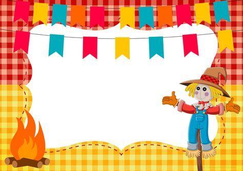 Convite Ou Moldura Festa Junina