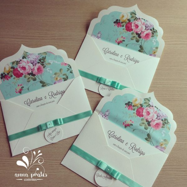 Convite De Casamento  Ateliê Anna Prates