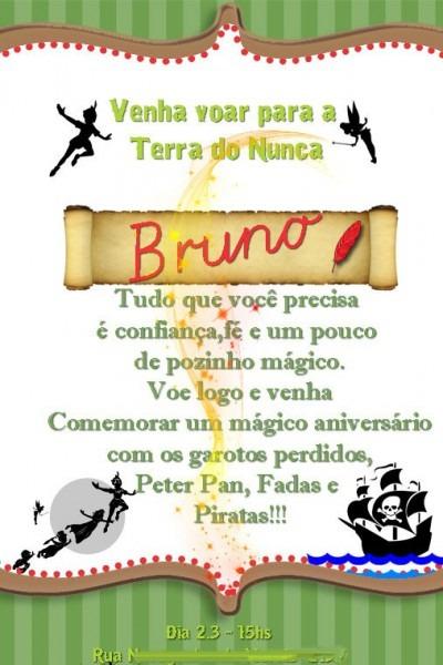 10 Convite Peter Pan Tinker Bell 10x15 Frete Gratis Ju Uva