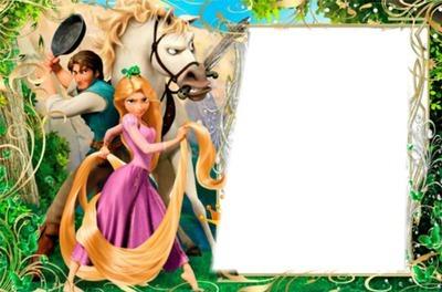 Fotomontagem Rapunzel