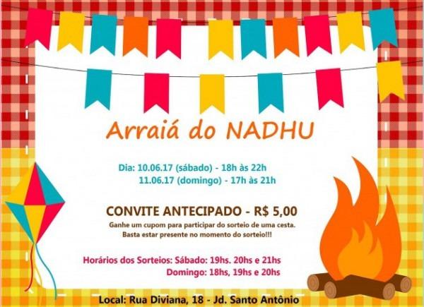 Convite  Arraiá Do Nadhu 2017