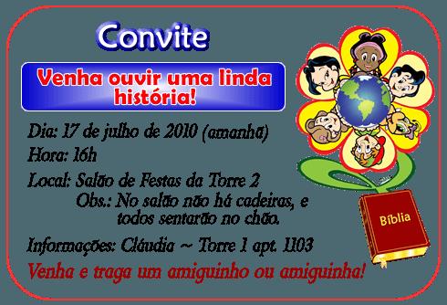 Convite Para Encontro Evangélico Infantil – Convite Infantil
