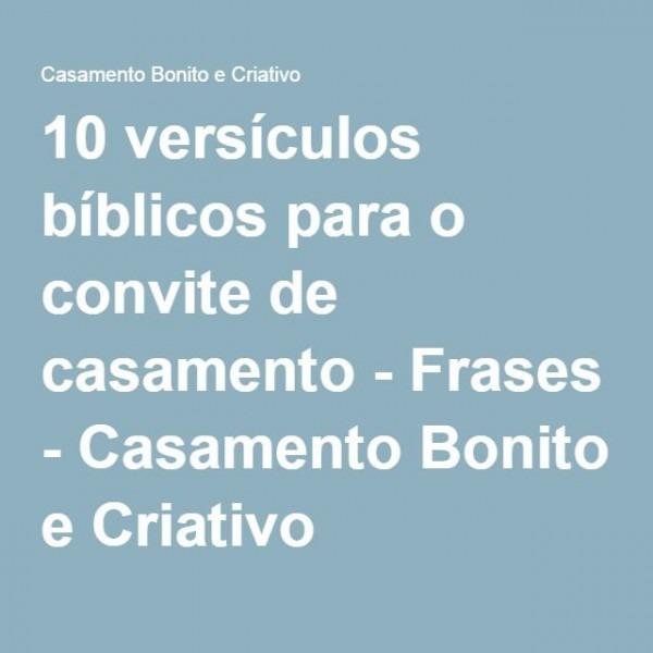 10 Versículos Bíblicos Para O Convite De Casamento