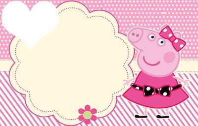 Fotomontagem Convite Peppa Pig