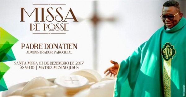 Convite Missa De Posse Pe  Donatien – Diocese De Foz Do Iguaçu