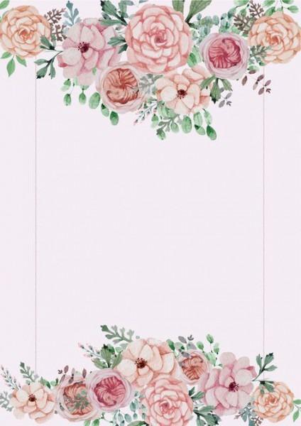 Material De Fundo De Flores Cor