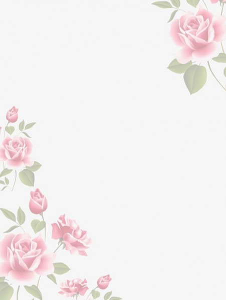 Pink Watercolor Flower Borders, Watercolor Clipart, Flower Clipart