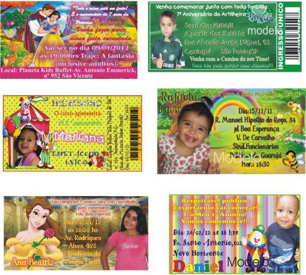 Convite Tamanho 9x5