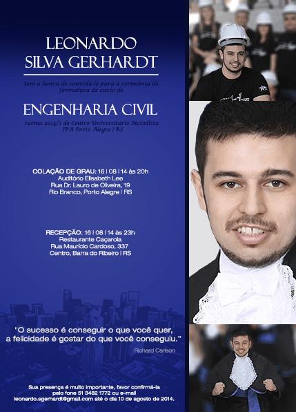 Convite De Formatura De Engenharia Civil