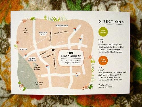 L&o Papelaria Fina  Convite Com Mapa