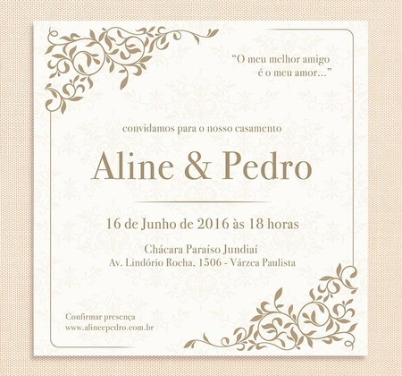 Convite Casamento Digital