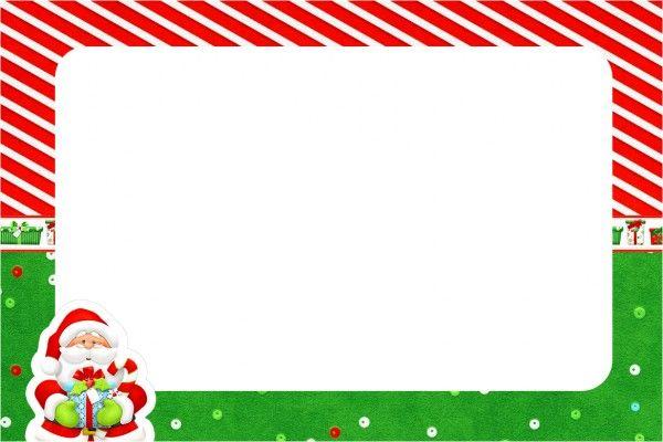 Convite, Moldura Natal Vermelho E Verde