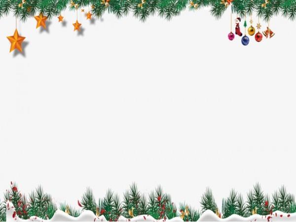 Moldura De Natal As Estrelas Pompom Pingente Arquivo Png E Psd
