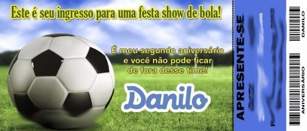 50 Convite Ingresso Futebol Times Personalizado Aniversário
