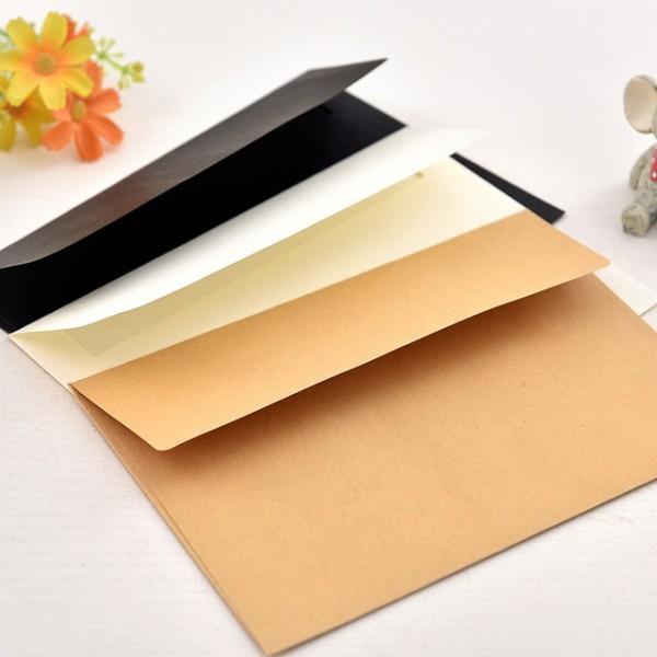 50 Pçs Lote Envelopes De Papel Bege Kawaii Sobres Papel Envelope