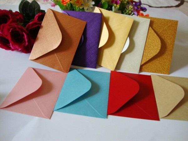 50 Pçs Lote Tamanho  11x8 Cm Pequeno Envelope Para O Material De