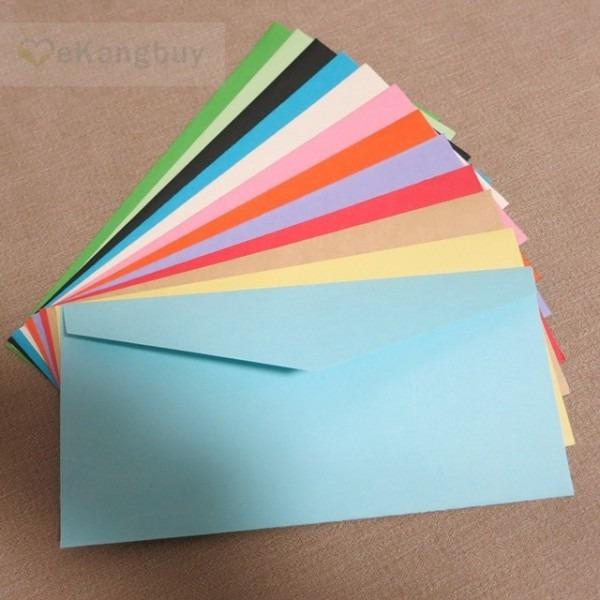 50 Pcs 22x11 Cm (8 6  X 4 3 ) Cor Do Papel Envelope Envelopes Do