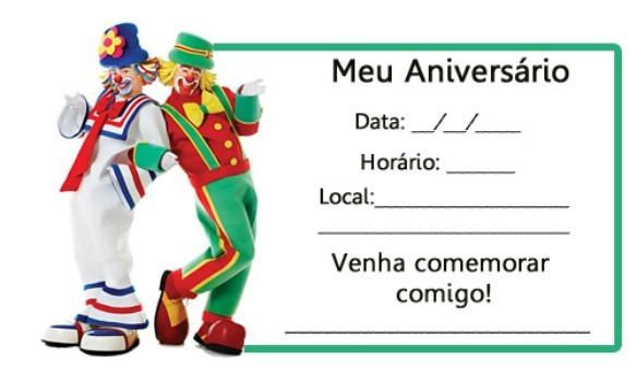 Tabloide A E S C  MamaÔ  Convites De Festa De Aniversário Infantil
