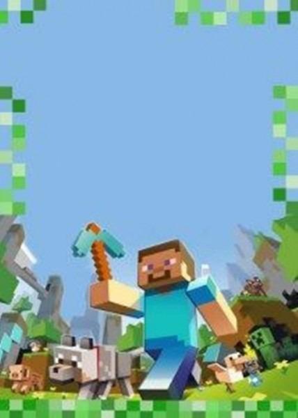 Convite Minecraft – 10 Modelos Para Editar – Modelos De Convite