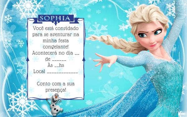 Convite Digital Frozen   Por Convida