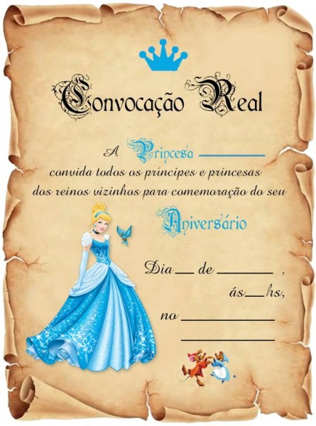 55 Convite Festa Cinderela Convite Aniversário Marquesa