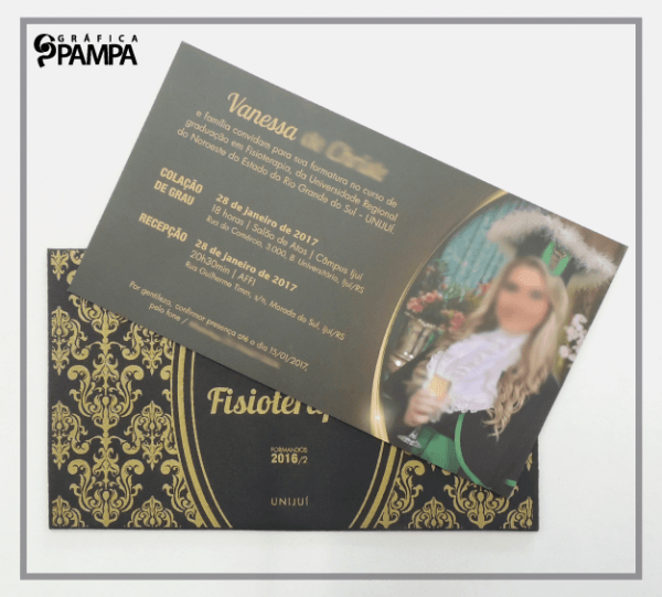 Convite Formatura Fisioterapia Vc – Gráfica Pampa