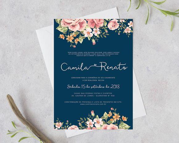 Arte Digital Convite Casamento