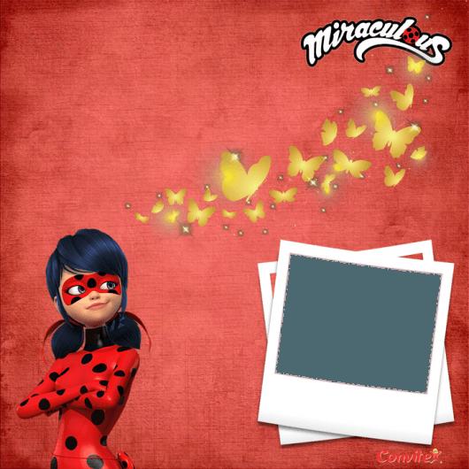 Convites Ladybug Para Imprimir Grátis Com Espaço Para Colocar Foto