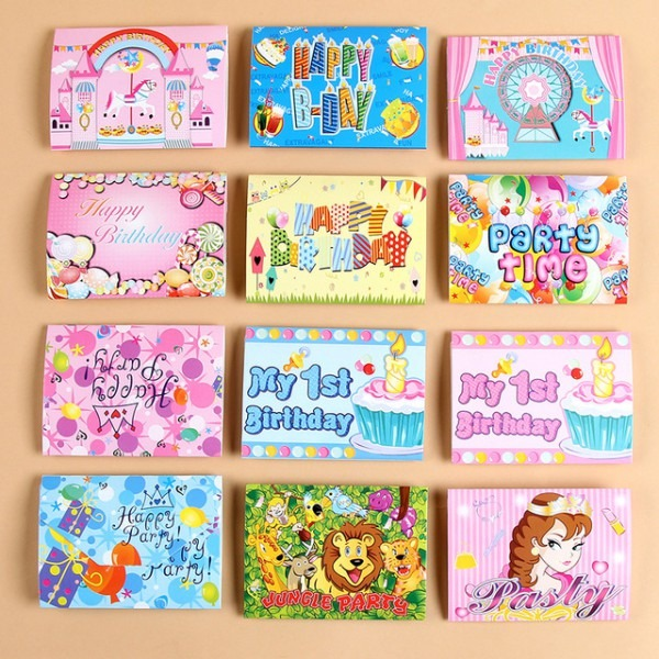 6 Pcs Coroa De Papel Cartão De Convite De Aniversário Para