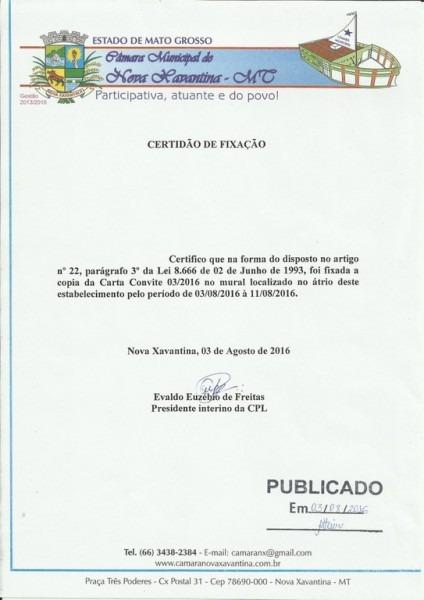 Notícias — Câmara Municipal De Nova Xavantina