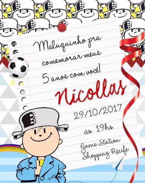Convite E Detalhes Dessa Festinha Linda ❣    Omeninomaluquinho