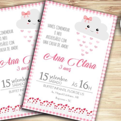 Convite Digital Chuva De Amor
